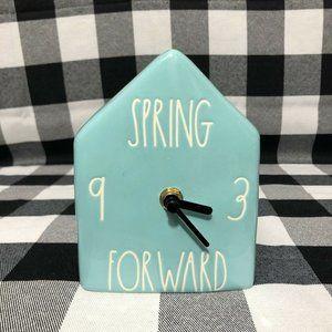 Rae Dunn Spring Forward Clock Blue Farmhouse LL